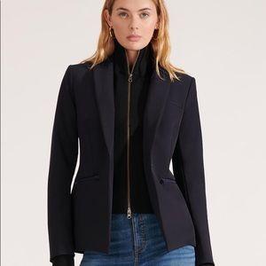 Veronica Beard scuba jacket with cashmere Dickey